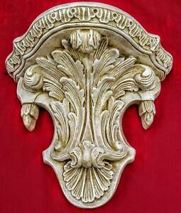 Antique Finish Shelf Acanthus leaf Tassel Wall Corbel Sconce Bracket Vintage
