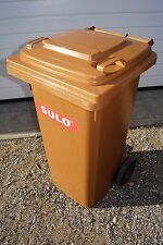SULO 120L Mülltonne NEU - grau, gelb, blau, grün, braun, orange, rot - Lagerware