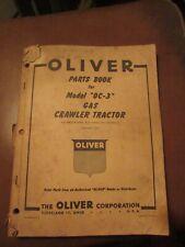 New ListingOliver Oc-3 Crawler Tractor Parts Book Catalog Manual cletrac