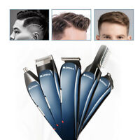 Professional Electric Mens Hair Clipper Shaver Trimmer Cutter Grooming Kit Set
