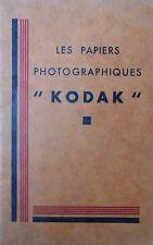 """Catalogue """"Les papiers photographiques Kodak"""" (Français)"""