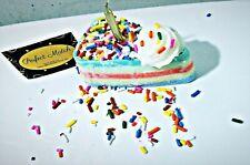 Birthday cake candles, rainbow sprinkles, soywax, 4thofjuly, candles, cake, blue