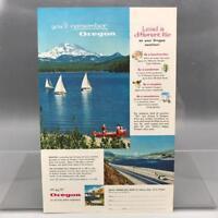 Vintage Magazine Ad Print Design Advertising Oregon Tourism