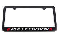 Chevrolet Silverado Rally Edition License Plate Frame - Satin Black Engraved