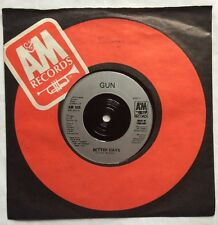 "Gun - Better Days - A & M Records Company Sleeve 7"" Single AM 505 EX/VG"