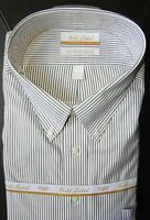 Roundtree Yorke Dress Shirt * Charcoal Gray Striped * 18 - 36/37 TALL NWT