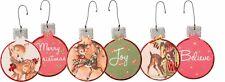 Wood Christmas Fawn Ornament Reindeer~Set 3~Primitive/Country/Vintage~Tree/Deer