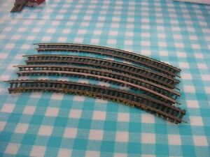 TT Schienen, 4x gebogenes Gleis