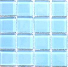 Hellblau Glasmosaikfliesen, glänzend. Kleine MUSTER von MT0009 Glass Mosaic Tile