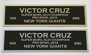 Victor Cruz nameplate for signed autographed jersey football helmet or photo