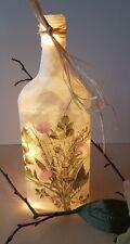 ♦ Dekoflasche Leuchtflasche Blumen Frühling Strauss ca. 25cm ♦ 152