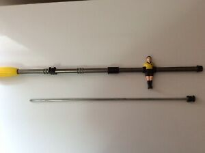 Yellow One Man Rod Vintage Sportcraft Foosball, Arcofalc Milano, Made in Italy
