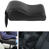 Car SUV Black PU Leather Center Box Armrest Console Soft Pad Cushion Cover Kits