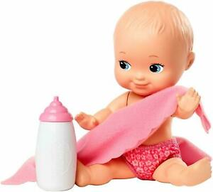 "Fisher-Price Little Mommy Mini 6"" Doll with Pink Blanket New"