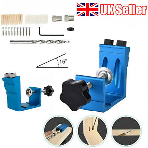 46x Pocket Hole Jig Kit Woodworking Drill Tool Wood Joint Screw Hole Locator New
