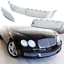 For Bentley Continental Flying Spur 05-09 Front Bumper Lower Mesh Grille Chrome