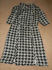 Carolina Herrera Short Sleeve Black Spot Cotton Blend Short Dress Size M