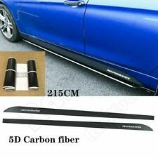Universal Carbon Fiber Stripe Sticker Car Side Skirt Sill Vinyl Decal Sheet Wrap