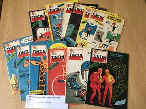 TINTIN équivalent reliure n°40 (n° 550 à 561) tintin hebdomadaire 1959 BE+