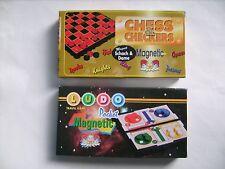 2 kleine Magnetspiele / Reisemagnetspiele: LUDO + CHESS & CHECKERS - neu