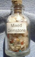 1 x 5 MM BOTTLE OF SMALL MIXED GEMSTONES  WITH CORK STOPPER SEE PICTURE