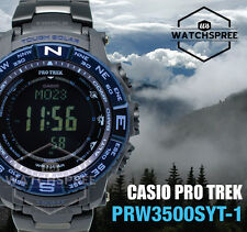 Casio Protrek Triple Sensor V3 Multiband 6 Tough Solar Watch PRW3500SYT-1D