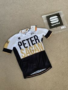 New Sportful Peter Sagan Body Fit Short Sleeve Cycling Jersey Men's Size Large