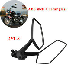 2PC ABS Shell+Clear Glass Motorcycle Scooter Side Rear View Mirror 8mm 10mm Tool