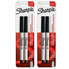2 Pack New Sharpie Ultra Fine Point Permanent Markers 2 Black Markers