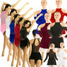 Womens Long Sleeves Mesh Contemporary Lyrical Dance Dress Ballet Leotard Costume