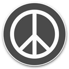 2 x Vinyl Stickers 7.5cm (bw) - Green Peace Symbol Camper Van Surf  #40261