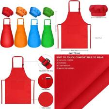 Yarachel Kids Apron And Chef Hat Set - 8 Pieces Waterproof And Adjustable Child