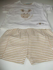 UNISEX FOR 6 MONTH BABY SHORTS & T SHIRT SET BRAND NEW FROM M.MA.ME STRIPY ZEBRA