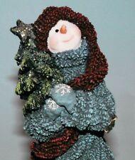 "Boyds Bears resin ""Spruce Bruce"" #36528 snowman Christmas tree winter Nib 200 00004000 3"