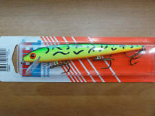 REBEL MINNOW SIZE: 4.5 INCH 11.5 CM  WEIGHTt 3/8 10.2 gr. COLOR FT-FIRE TIGER