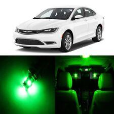 10 x Green LED Interior Light Package For 2015 - 2017 Chrysler 200 + PRY TOOL