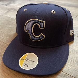 Camden Riversharks New Era Fitted Wool Hat Cap 7 3/8 USA Milb Vtg 59Fifty 5950