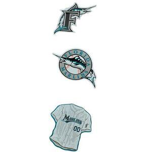 MLB Baseball Florida Marlins Logo Jersey Licensed Fan Magnets Set of 3 Three
