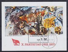 DDR Block 63, gest. Einsiedel, X. SED Parteitag 1981, used