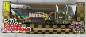 Limited Edition Ernie Irvin Skittles Diecast 1/64 Scale Hauler Stock Car Combo