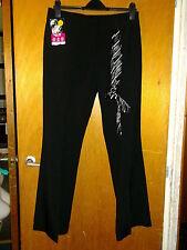 """BHS Reg. Fit Adj.Waist Bootleg School Trousers & Tie 15yrs W27.5"""" L31""""Black BNWT"""
