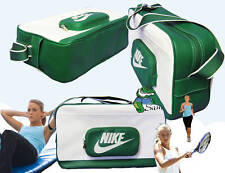 NIKE Ladies Womens  Tennis Inspired Court SHOULDER BAG White and Green AUTHENTIC