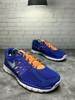 Nike Women's Flex Running Trainers 580440-500 Blue and Orange Size 9.5