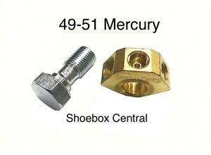 1949 1950 1951 Mercury Master Cylinder Brass Fitting and Banjo Bolt NEW