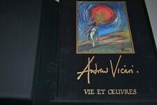 Andrew Vicari Vie et Oeuvres  / Daniel Curzi + dessin  signé et numéroté