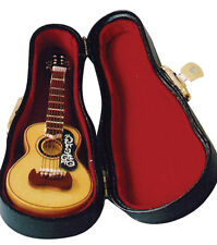 Miniature Model of a Spanish Guitar with a black carrying case