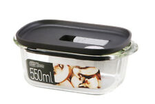 Lock & Lock Modern Steam Glass Rectangular Container 550ml