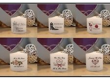 Personalised wedding/Occasion Votive Candle Favours Pack of 10 in a Organza Bags