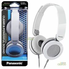 New Panasonic On Ear Street Lightweight Foldable Headphones White RPHXS200EW
