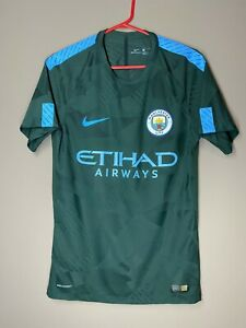 Manchester City 2017-2018 Player Issue Nike Aeroswift Third Shirt Jersey Rare